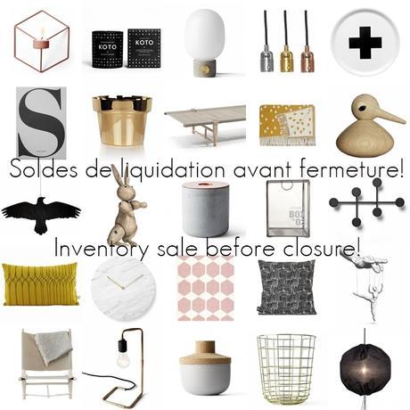 SOLDES DE LIQUIDATION! INVENTORY SALE!