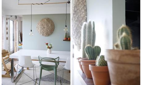 Avant apr s mon mur et mon s jour changent de couleur - Quelle couleur associer au vert anis ...
