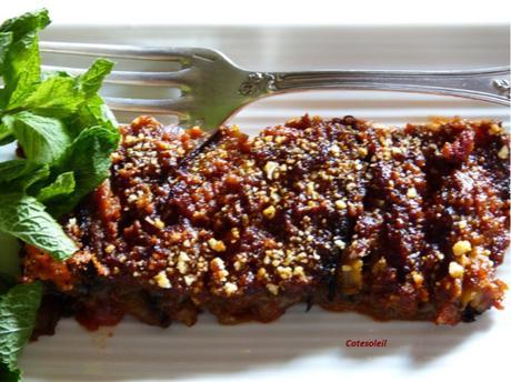 Millefeuille d'aubergine et anchois