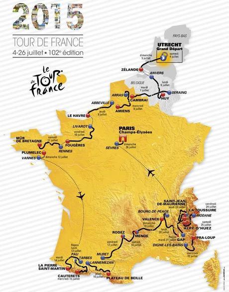 TOUR DE FRANCE 2015: Le parcours