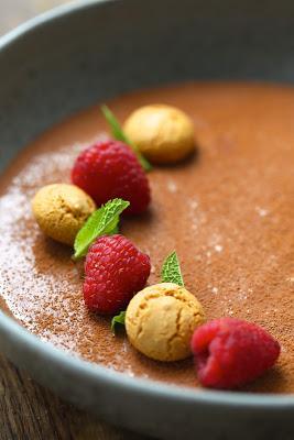Crème veloutée chocolat framboises