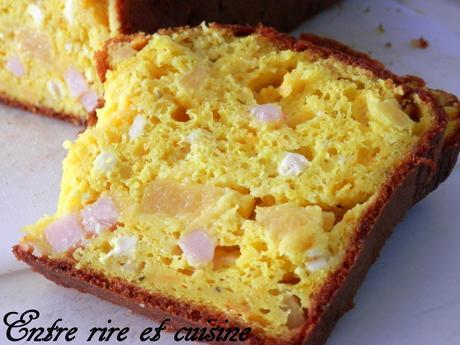 Cake salé Poulet, Curcuma, Ananas et Fromages