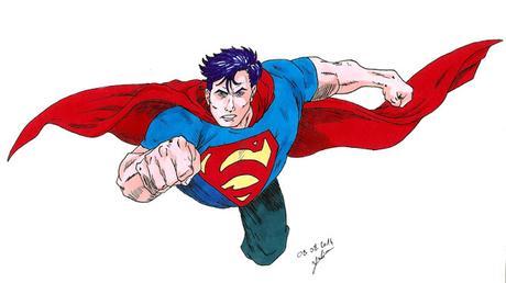 Gribouille Superman aux promarker (tiré du Superman Saga #7)