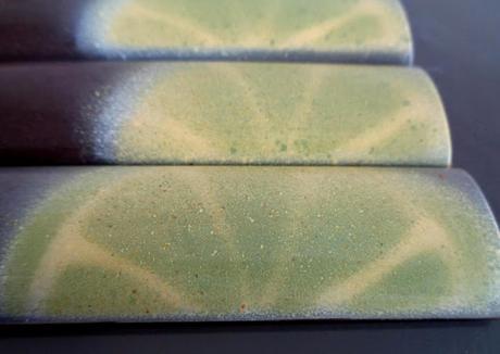 Barres élégantes ganache citron vert