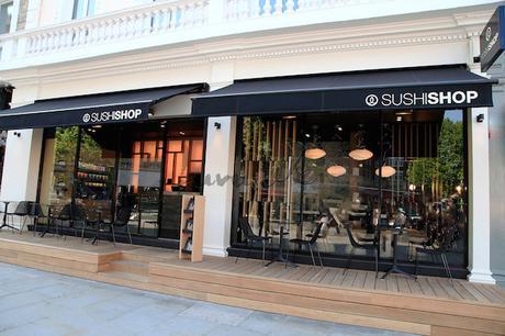 Interior shots for Sushi Shop