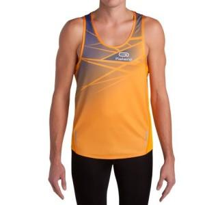 Test debardeur Running Homme Kiprace  + Short Kiprun Orange Bleue