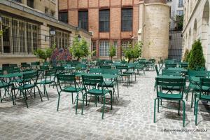 CafŽ Cour 55 rue des Francs Bourgeois Paris Mai 2015