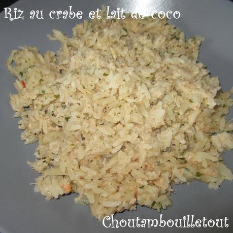 Riz au crabe et lait de coco paperblog - Riz lait de coco ...