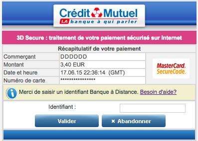 le credit mutuel veut tuer paiement en ligne