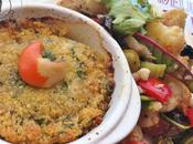 Noix St-Jacques gratinées salade choux fleurs
