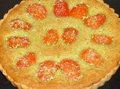 Tarte abricots crème d'amande pistache