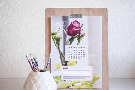 diy le calendrier de juillet 2015 paperblog. Black Bedroom Furniture Sets. Home Design Ideas