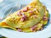 Omelette jambon emmental