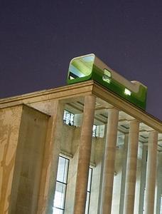 Une bulle sur un toit