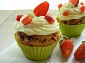 Cupcakes fraises chocolat blanc, sans oeuf