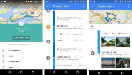 Google Maps pour Android : accédez à l'historique de vos positions