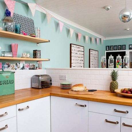 Envie de retro pastel dans ma cuisine lire - Cuisine couleur pastel ...