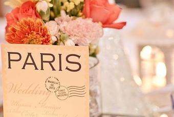 Decoration de mariage sur le th me de paris d couvrir - Decoration mariage paris ...