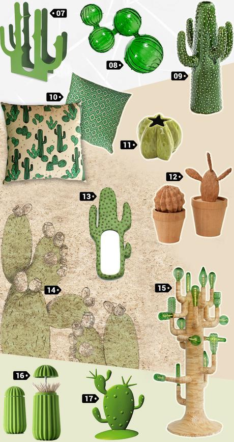 tendance d co le cactus paperblog. Black Bedroom Furniture Sets. Home Design Ideas