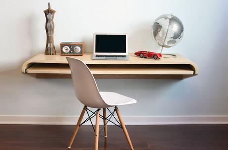 bureau suspendu. Black Bedroom Furniture Sets. Home Design Ideas