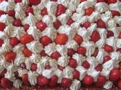 Tarte fraises crème chocolat blanc pralin