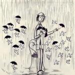 illustration de poésie il pleure dans mon coeur