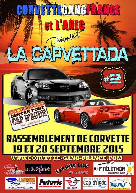 « Capvettada », rassemblement de Corvettes au Cap d'Agde