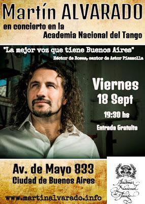 Martín Alvarado demain au Museo Mundial del Tango [à l'affiche]
