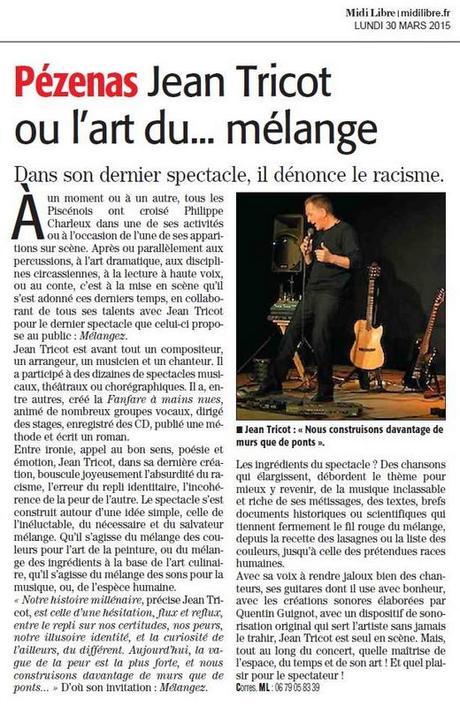 Jean Tricot à la Médiathèque de Florensac le vendredi 18 septembre