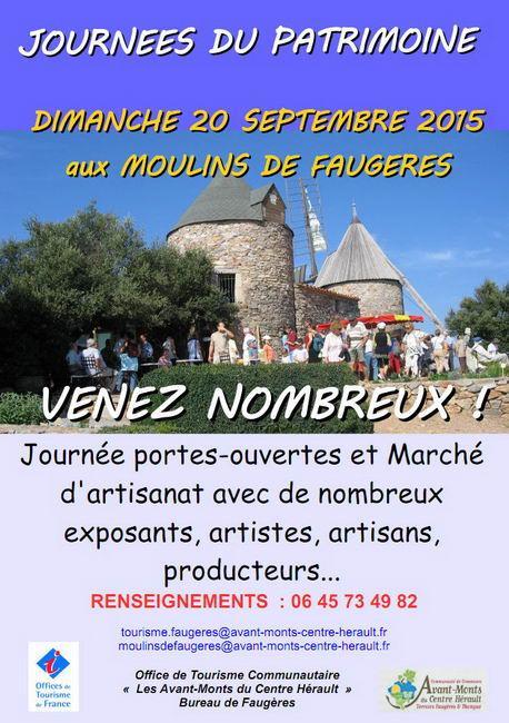 Journée du Patrimoine aux Moulins de Faugères le 20 septembre 2015