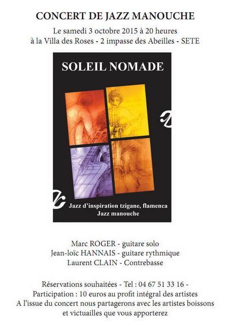SOLEIL NOMADE – Concert de Jazz Manouche à la Villa des Roses – Sète