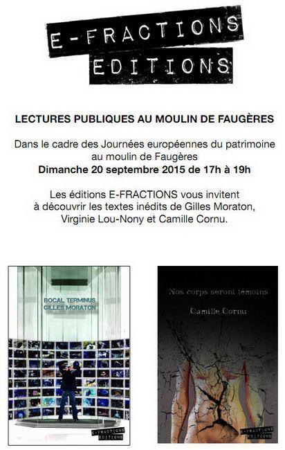 Les éditions E-FRACTIONS font leur rentrée au Moulin de Faugères