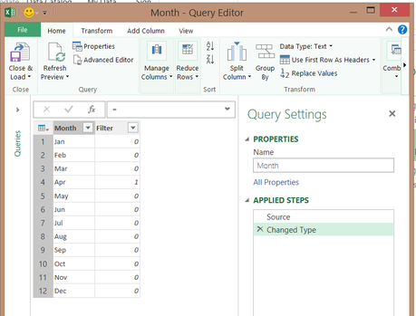 Power Query Filtre
