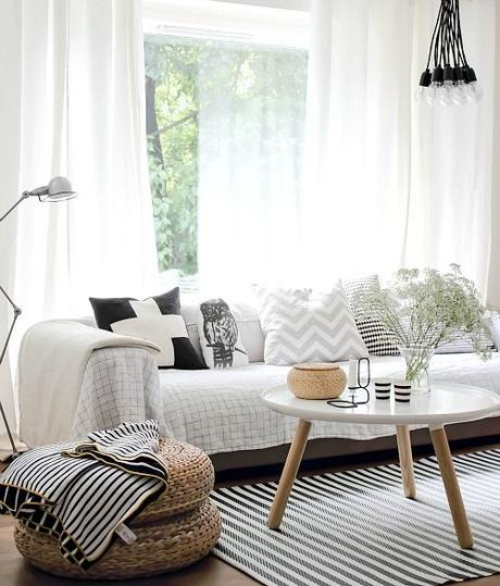 inspiration d co un salon cocooning pour l automne. Black Bedroom Furniture Sets. Home Design Ideas