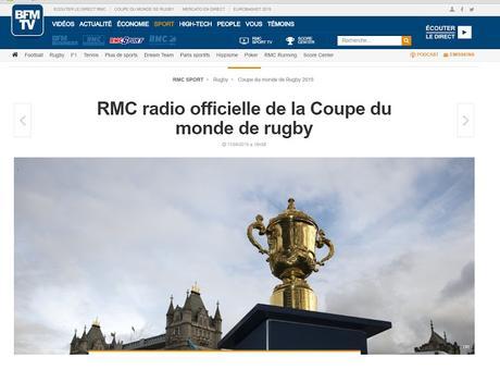 C'est qui la radio officielle de la Coupe du monde de rugby ?