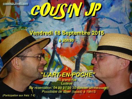 Concert de cOuSinJp à l'Art en Poche Lodève