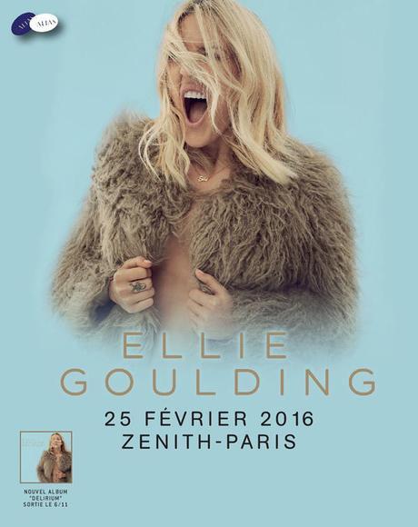 Ellie Goulding, révélation pop anglaise, en concert au Zénith de Paris en 2016 !