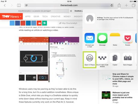 iOS 9 et les bloqueurs de pub: Peace repose en paix
