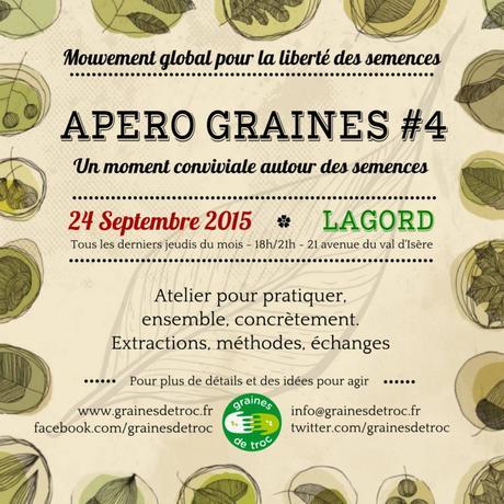 une autre façon de s'échanger graines et savoir-faire Apéro-graine Lagord 24 septembre 18 h 21 av du val d'isere