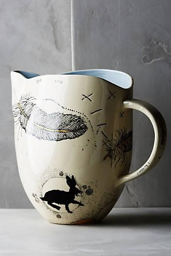 Sketched silhouette pitcher (© Anthropologie)