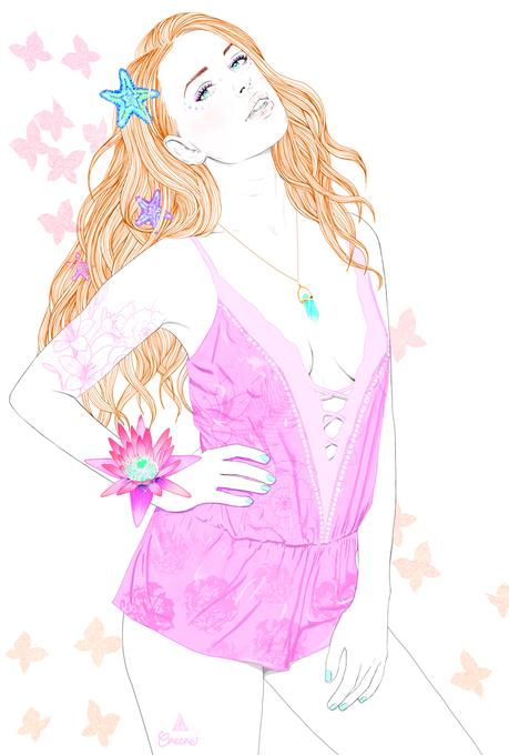 Princess Butterfly - illustrations