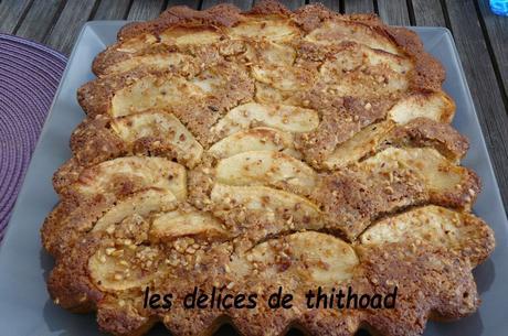 gâteau aux pommes, noisettes et polenta