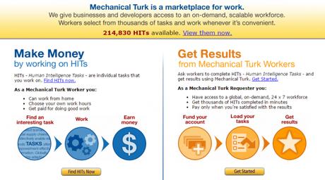 Amazon Mechanical Turk, initié en 2005, a lancé le crowdsourcing pour les micro-travaux