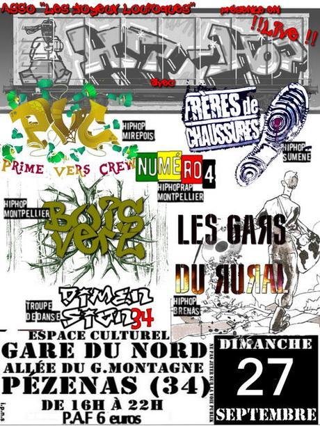 Pézenas : Après midi Hip-Hop Les Joyeux Loufoques Dimanche 27 Septembre
