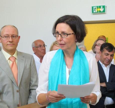 Fontainebleau, hier.Béatrice Blanc quitte la présidence du tribunal de grande instance de Fontainebleaupour prendre ses nouvelles fonctions en guadeloupe.