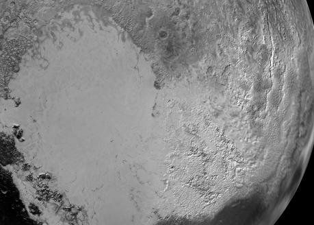 détail de la région Tombaugh sur Pluton