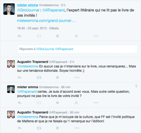 GRAND JOURNAL : Augustin Trapenard, l'expert littéraire qui ne lit pas les livres de ses invités !