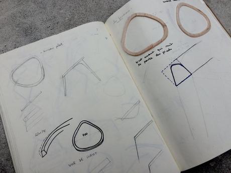 Chaise Aïko travail du cuir par Marine Domerge