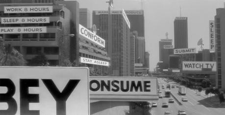 Le paysage publicitaire, tel que reproduit dans le film They Live (Image: Universal Pictures).