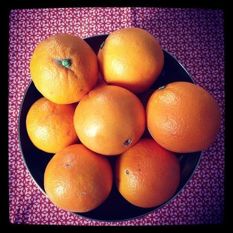 Oranges bio pour plein de vitamines, mais pas très locales.. (c) D'une île à Paris